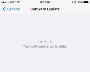 iPhone Update Version 9.3.5